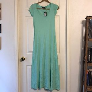 Polo Maxi Dress Teal Size XS